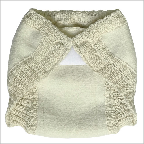 DISANA - Overnight Boiled Merino Wool Diaper Cover with Hook-&-Loop