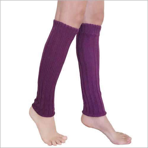 Hirsch Natur - Thermal Leg Warmers: Pure Organic Virgin Wool, Knee High Leg Warmers for Women