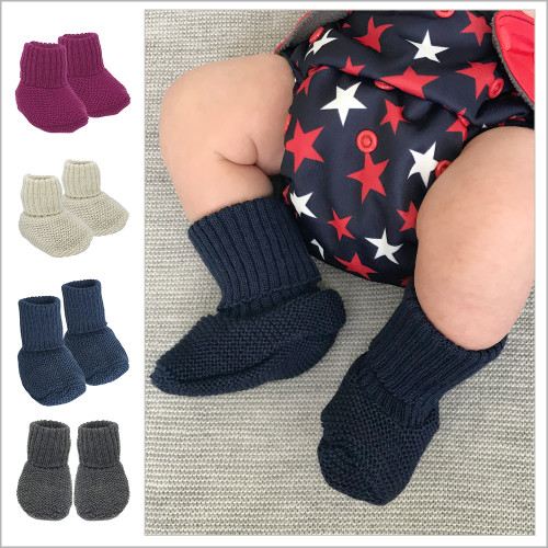 REIFF - Infant Baby Warm Booties Socks, 100% Organic Merino Wool