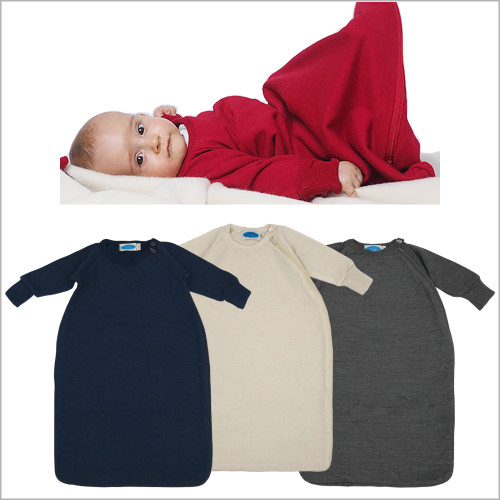 REIFF - Baby Toddler Sleeping Bag Wearable Blanket with Sleeves, Organic Merino Wool, Sizes NB – 4T