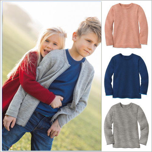 Disana Merino Wool Long Sleeve Pullover for Boys and Girls