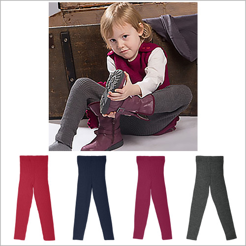 REIFF - Kids and Baby Winter Leggings Pants, 100% Organic Merino Wool