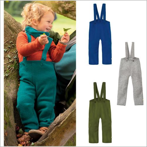 DISANA - Kids Wool High Waist Pants, 100% Organic Merino Wool, 1-6 Years