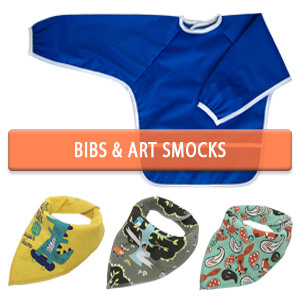 Baby and Kids Art Smocks or Bibs with Sleeves