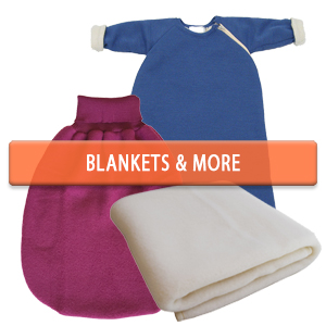 Merino Wool Baby Wearable Blankets and Receiving Blankets