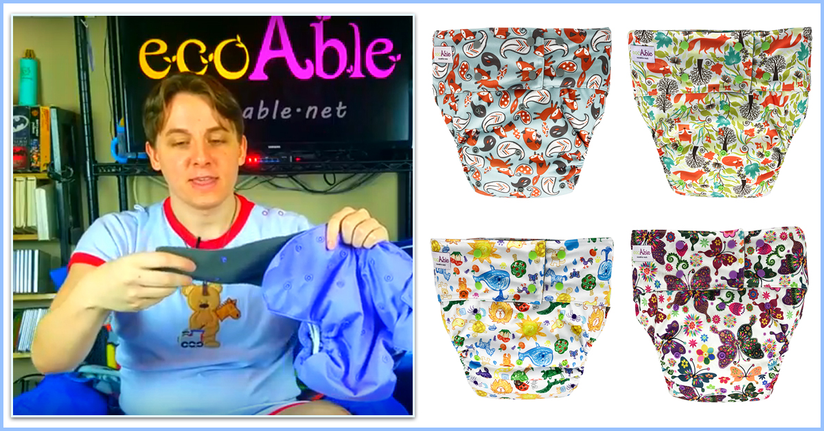 EcoAble Adult Cloth Diaper Video Review