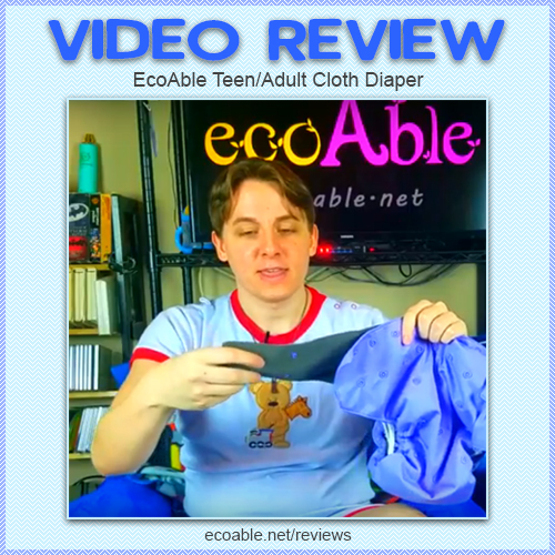 Video Review Ecoable Teen Adult Cloth Diaper By Mid America Little Ecoable