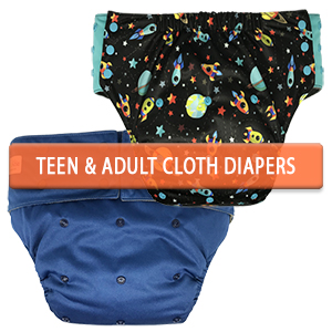 Incontinence Cloth Diapers for Men and Women