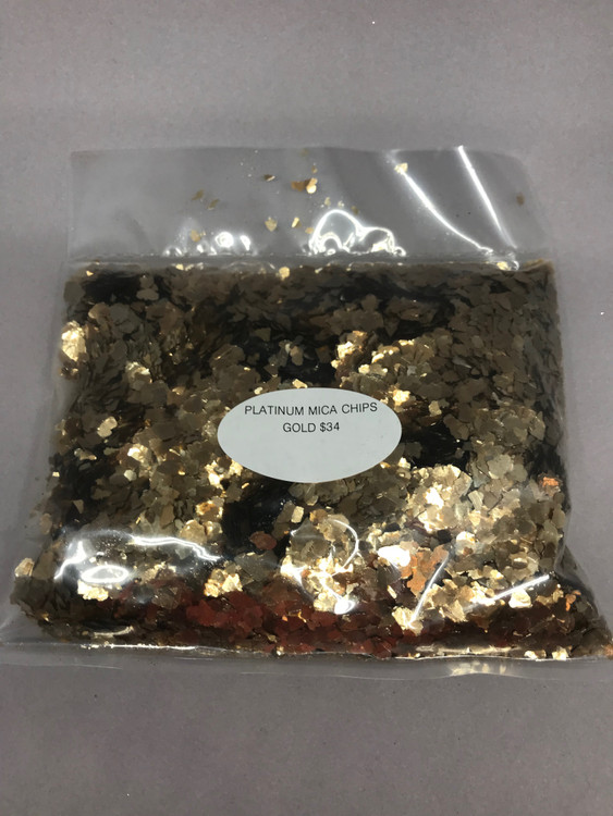 Mica Chips Gold