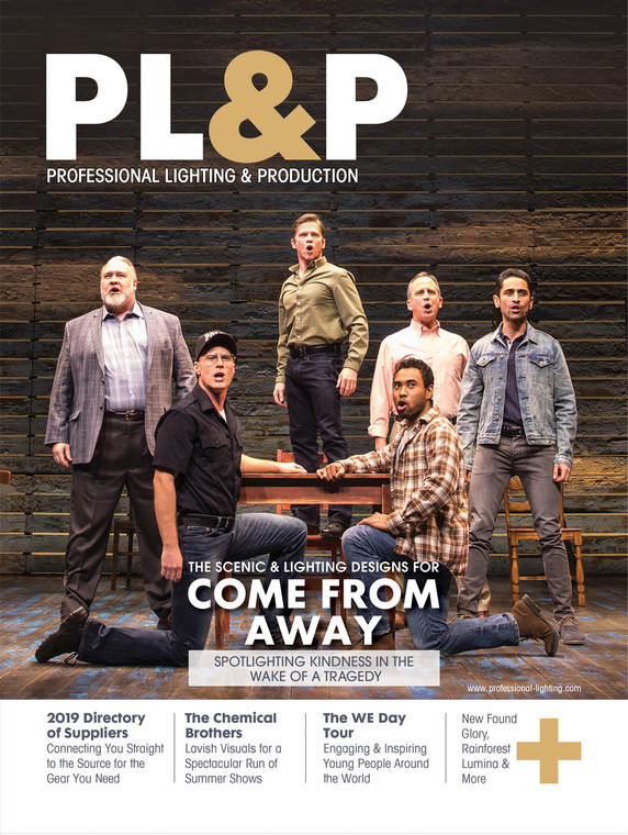 In the Winter 2018 issue of Professional Lighting and Production, author Kevin Young talks about the scenic & lighting designs for Come from Away and the show's continued popularity. Come from Away is amidst its run at Toronto's Royal Alexandra Theatre – a run that's been repeatedly extended.  Order your copy now.