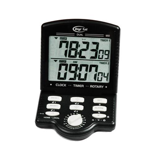Digi 1st J-950 Jumbo Dual Display Calendar Clock Count Up/Down Desk Timer