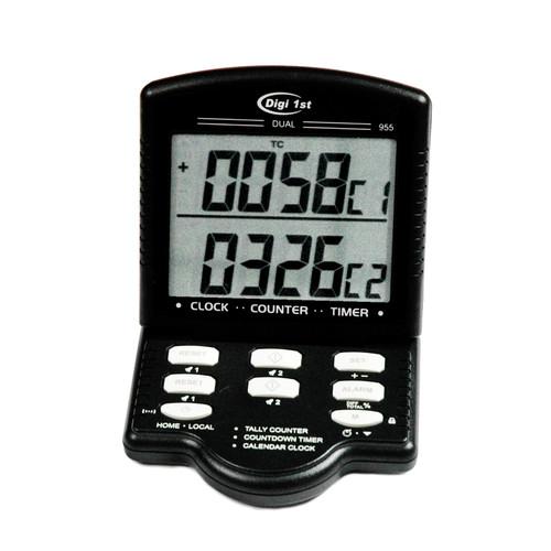 Digi 1st J-955 Jumbo Dual Display Calendar Clock Countdown Timer/Tally Desk Counter
