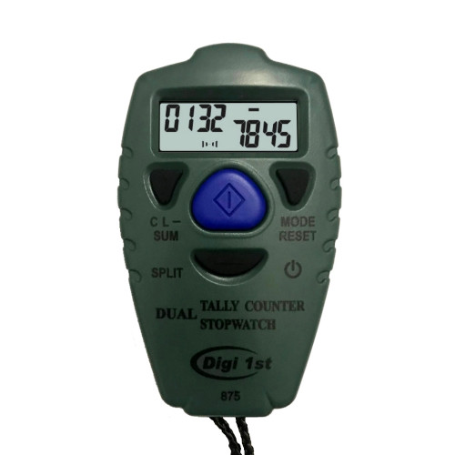 Digi 1st TC-875 Dual Tally Counter and Stopwatch