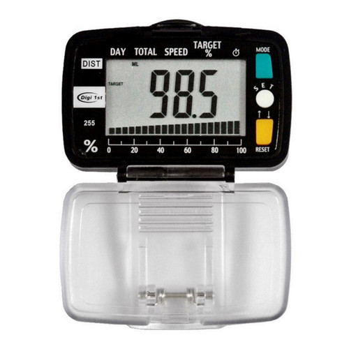 Digi 1st P-255 Distance Goal Tracking Pedometer with Speed function. Buy this bulk goal tracking pedometers with custom logo. Wholesale pricing as low as $6.00 per unit.