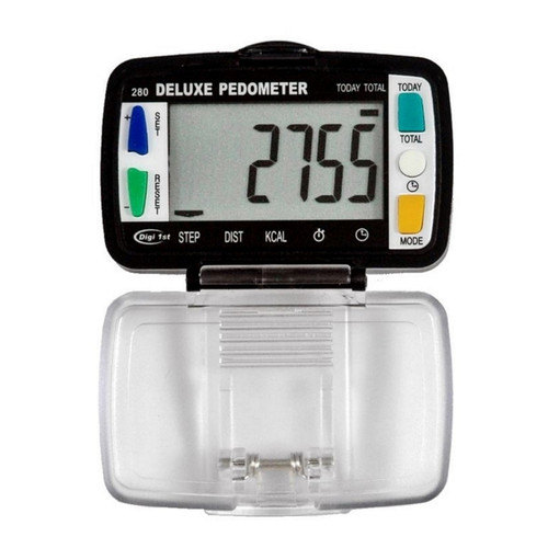 Digi 1st P-280 Step, Distance, Activity Time, Calorie, Clock Pedometer.