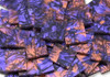 Violet & Copper Van Gogh Stained Glass Mosaic Tiles