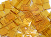 Pale Amber Rough Rolled Stained Glass Mosaic Tiles, COE 96