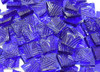 Dark Blue Celtic Hand Cut, Stained Glass Mosaic Tiles