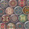 20 Persian Print  25mm Round Glass Cabochons