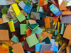 1/2 lb Random Jumbled Mix Stained Glass FUSIBLE Mosaic Tiles, COE 96