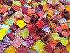 """3/4"""" x 1/2"""" Hot Mix Stained Glass Mosaic Tiles (70 tiles)"""