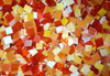 "1"" x 1/2"" Orange Mix Stained Glass Mosaic Tiles (50 tiles)"