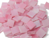 Pink & White Wispy Stained Glass Mosaic Tiles