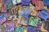 """1"""" x 1/4"""" Van Gogh Glass Mix Stained Glass Mosaic Tiles (50 tiles)"""