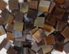 """1"""" x 1 1/2"""" Mocha Swirl Stained Glass Mosaic Tiles (30 tiles)"""