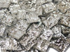 """1/2"""" x 1/2"""" Silver Granite Mirror Stained Glass Mosaic Tiles (100 tiles)"""