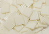 """1/2"""" x 1/2"""" Ivory Opal Stained Glass Mosaic Tiles, COE 96 (100 tiles)"""