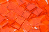 Orange Rough Rolled Stained Glass Mosaic Tiles