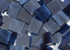 """1/2"""" x 3/4"""" Navy Blue Wispy Stained Glass Mosaic Tiles (70 tiles)"""