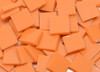 Persimmon / Pumpkin Orange Opal Stained Glass Mosaic Tiles, COE 96