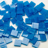 Cerulean Blue Opal Stained Glass Mosaic Tiles COE 96
