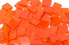 Orange Translucent Stained Glass Mosaic Tiles