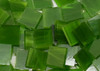 Mossy Green Wispy Stained Glass Mosaic Tiles, COE 96