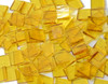 Yellow Rough Rolled Stained Glass Mosaic Tiles, COE 96