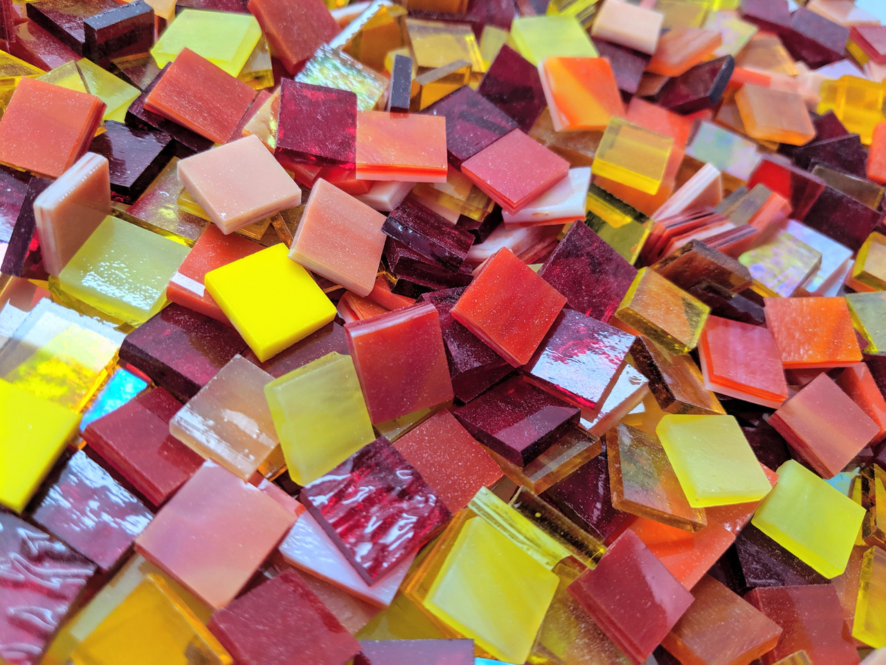 Hot Mix Stained Glass Mosaic Tiles
