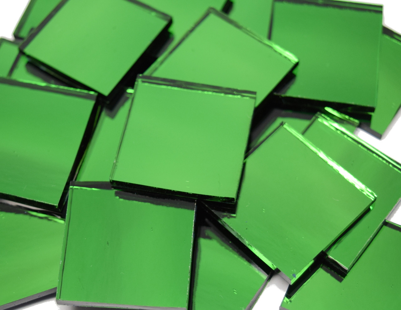 Bulk Discount - Emerald Ice Green Waterglass Mirror Stained Glass Mosaic Tiles