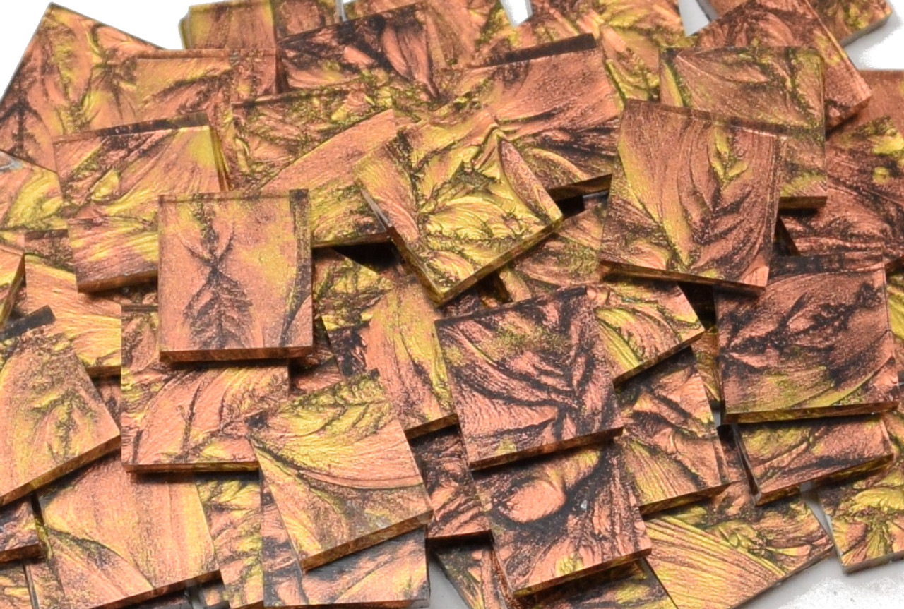Bulk Discount - Copper & Gold Van Gogh Stained Glass Mosaic Tiles