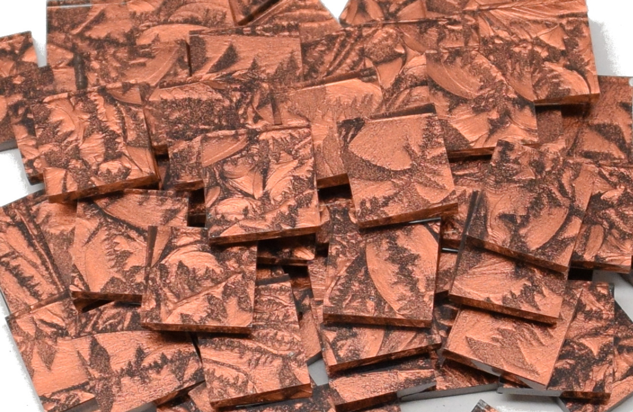 Bulk Discount - Copper Van Gogh Stained Glass Mosaic Tiles
