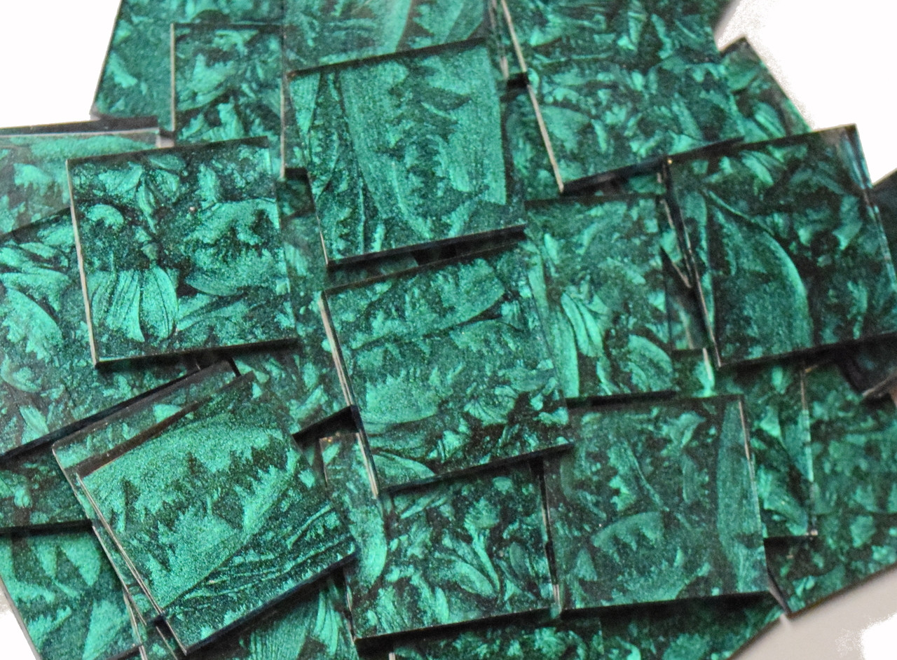 Bulk Discount - Emerald Green Van Gogh Stained Glass Mosaic Tiles