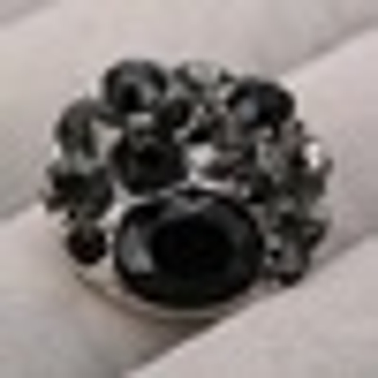 1 Black/Gray Rhinestone Snap Button Embellishment