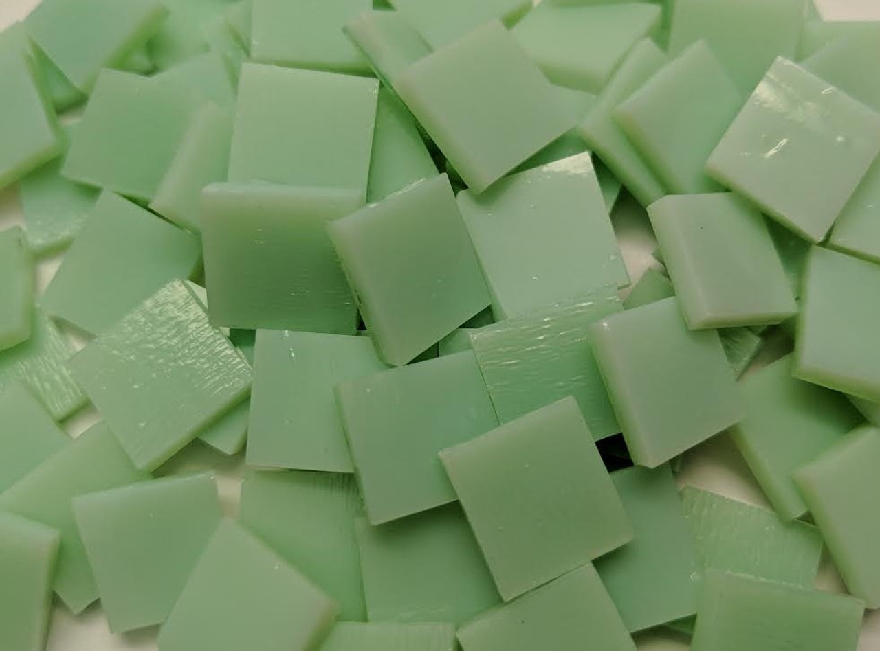 Pale Green Opal Stained Glass Mosaic Tiles