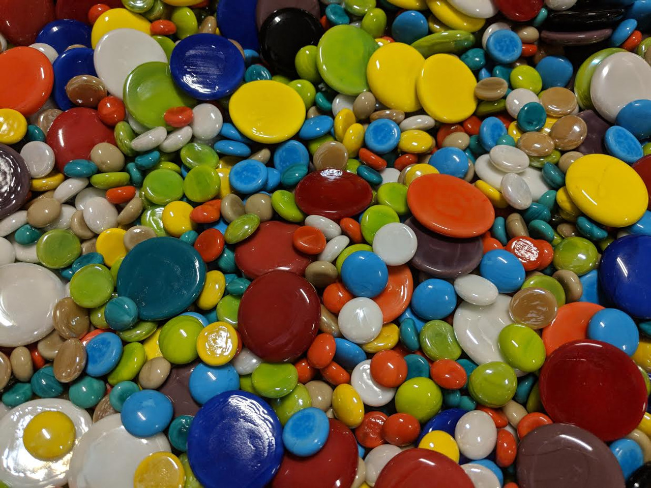 BONUS BUY:  3 lb Assorted Mix of Glass Gems, 12-38mm + Bonus Gift