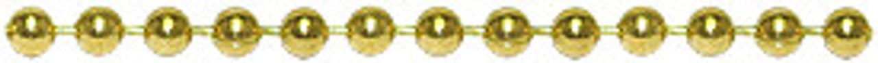 #8 Gold Ball Chain, 10 feet