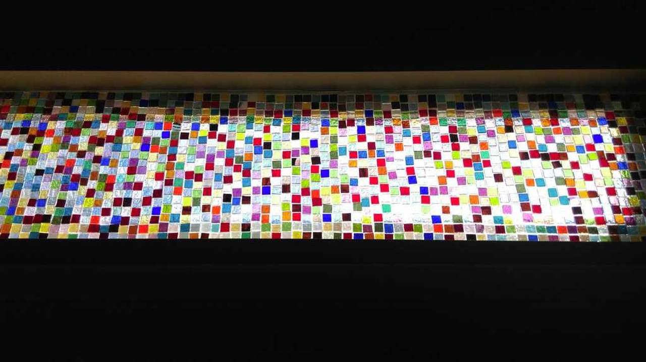 "3/4"" x 3/4"" Translucent Mix Stained Glass Mosaic Tiles (40 tiles)"