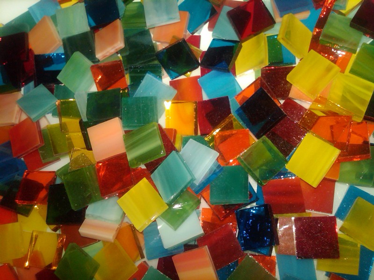 "1"" x 1/2"" Mason's Tropical Mix Stained Glass Mosaic Tiles (50 tiles)"