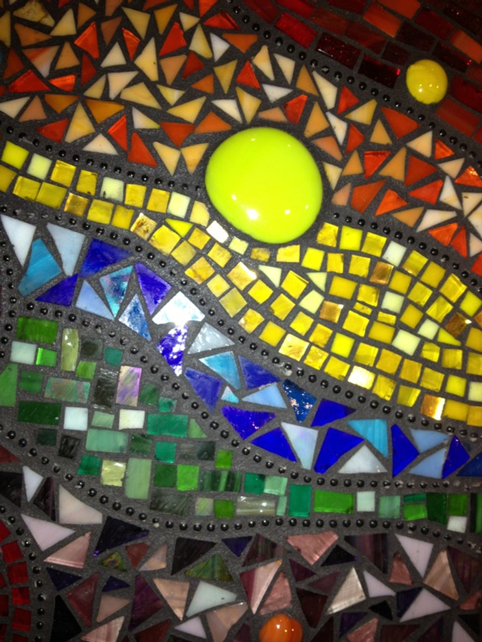 """1/2"""" x 1/2"""" Yellow Mix Stained Glass Mosaic Tiles (100 tiles)"""